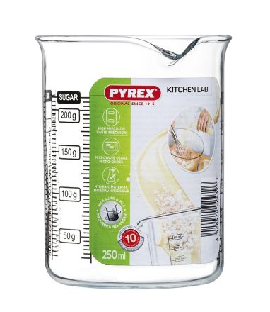 VASO MEDIDOR 250ML - KITCHEN LAB - PYREX